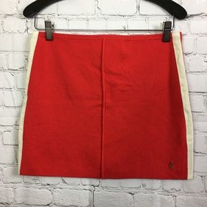 Juicy Couture Red Wool Skirt